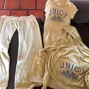 Juicy couture 3 piece sweatsuit